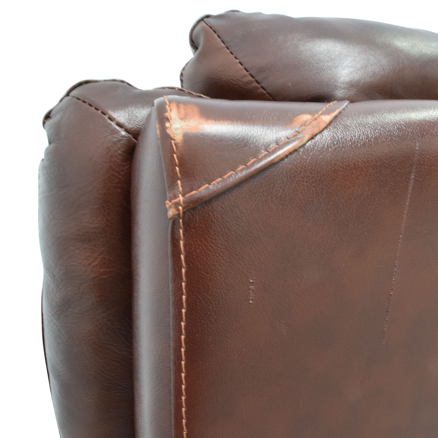 Macys Macys Brown Leather Power Recliner Chairs