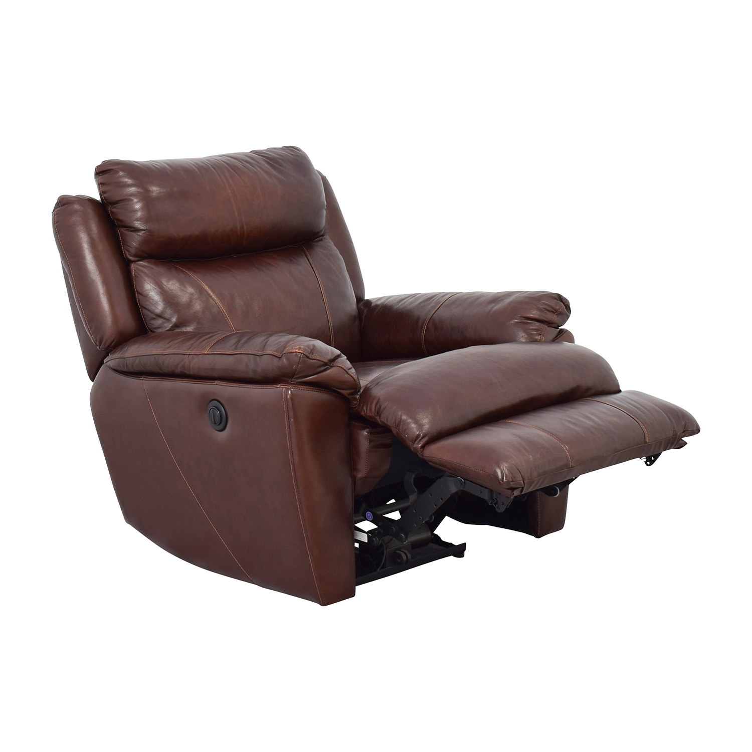 Macys Macys Brown Leather Power Recliner nj