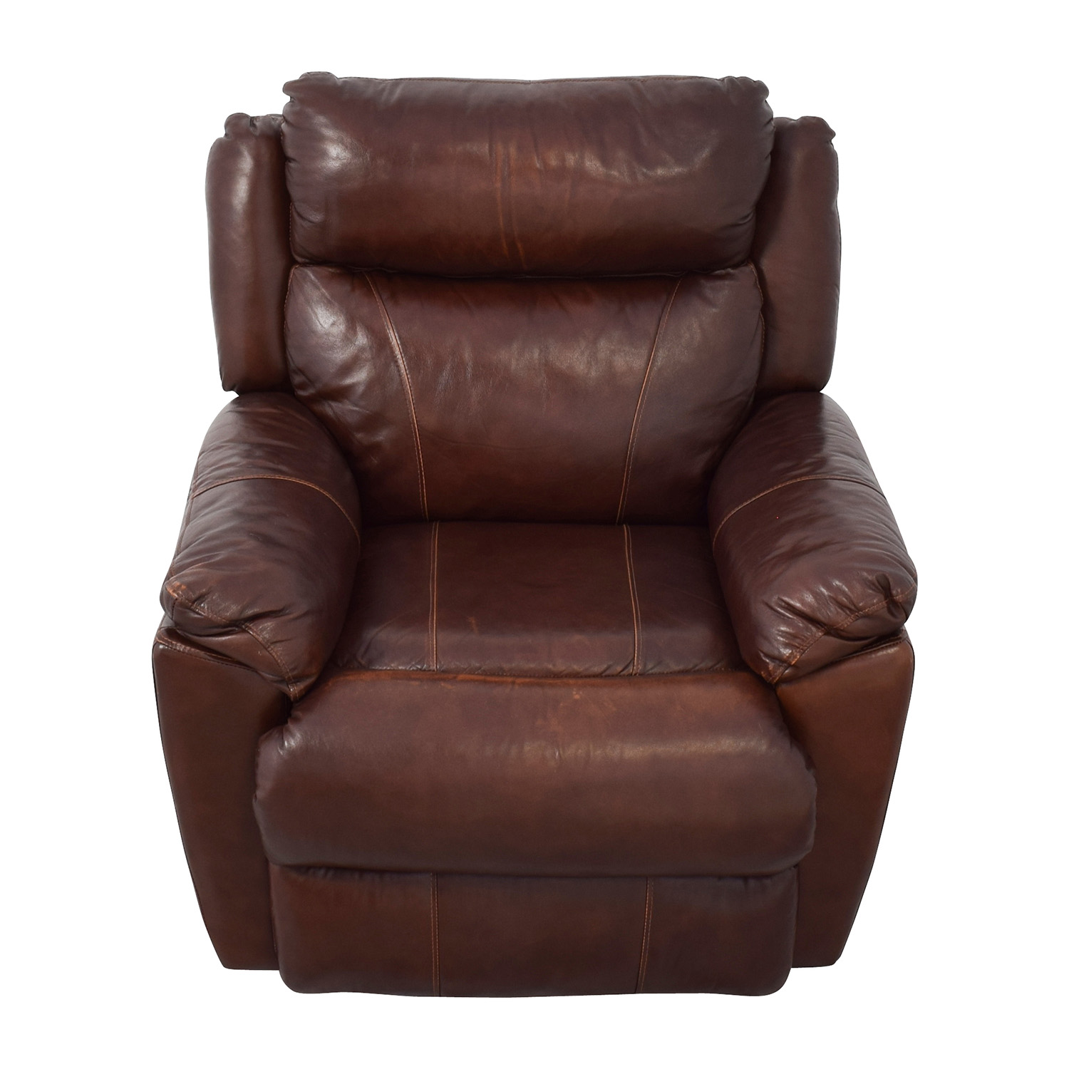 ... Macyu0027s Macyu0027s Brown Leather Power Recliner ...  sc 1 st  Furnishare & 61% OFF - Macyu0027s Macyu0027s Brown Leather Power Recliner / Chairs islam-shia.org