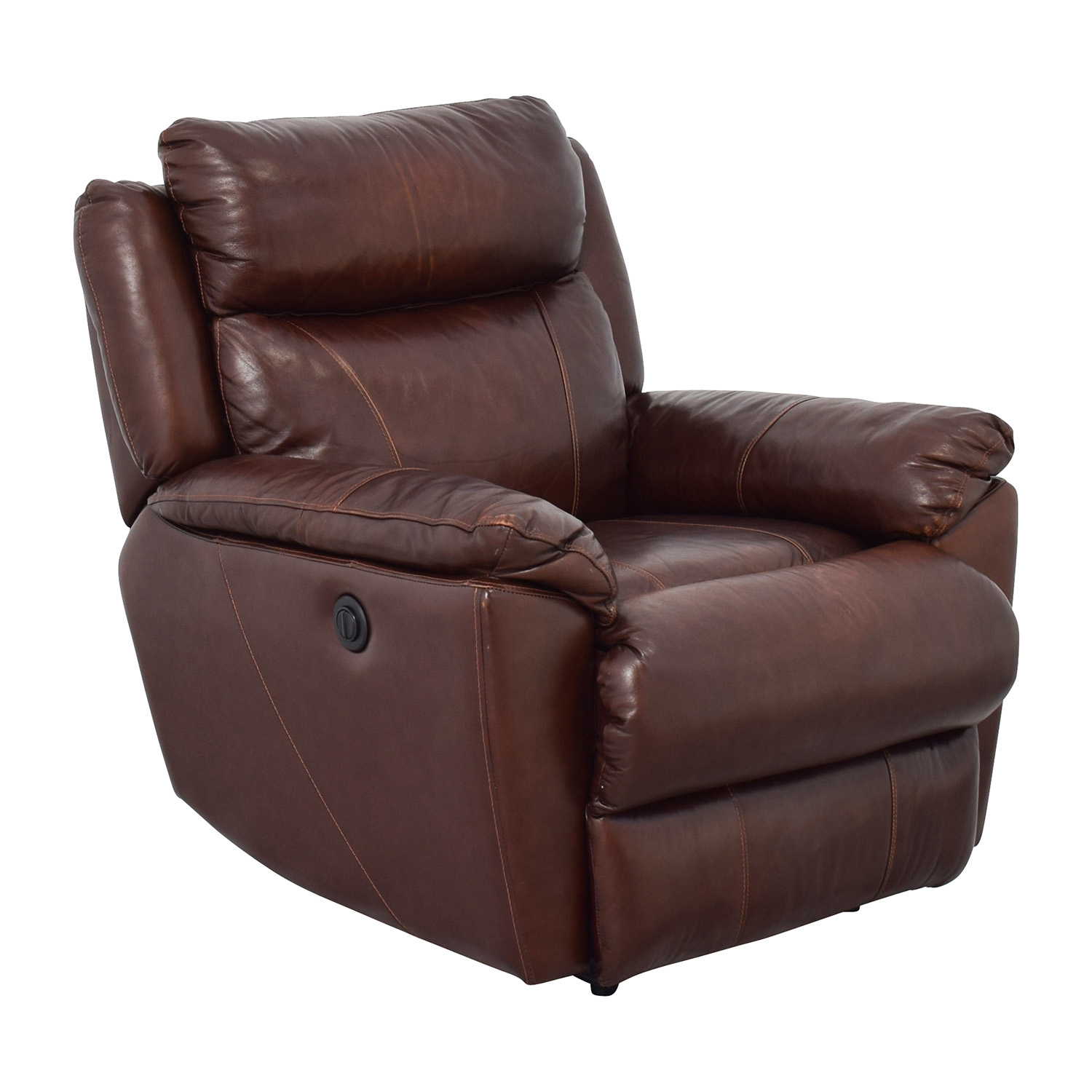 Macys Macys Brown Leather Power Recliner coupon