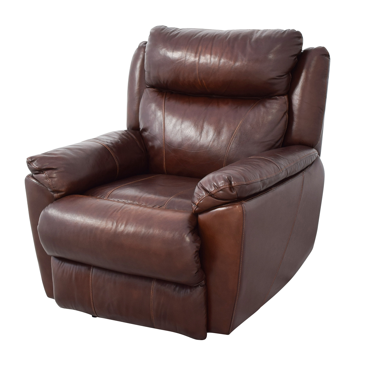 61 Off Macy S Macy S Brown Leather Power Recliner Chairs