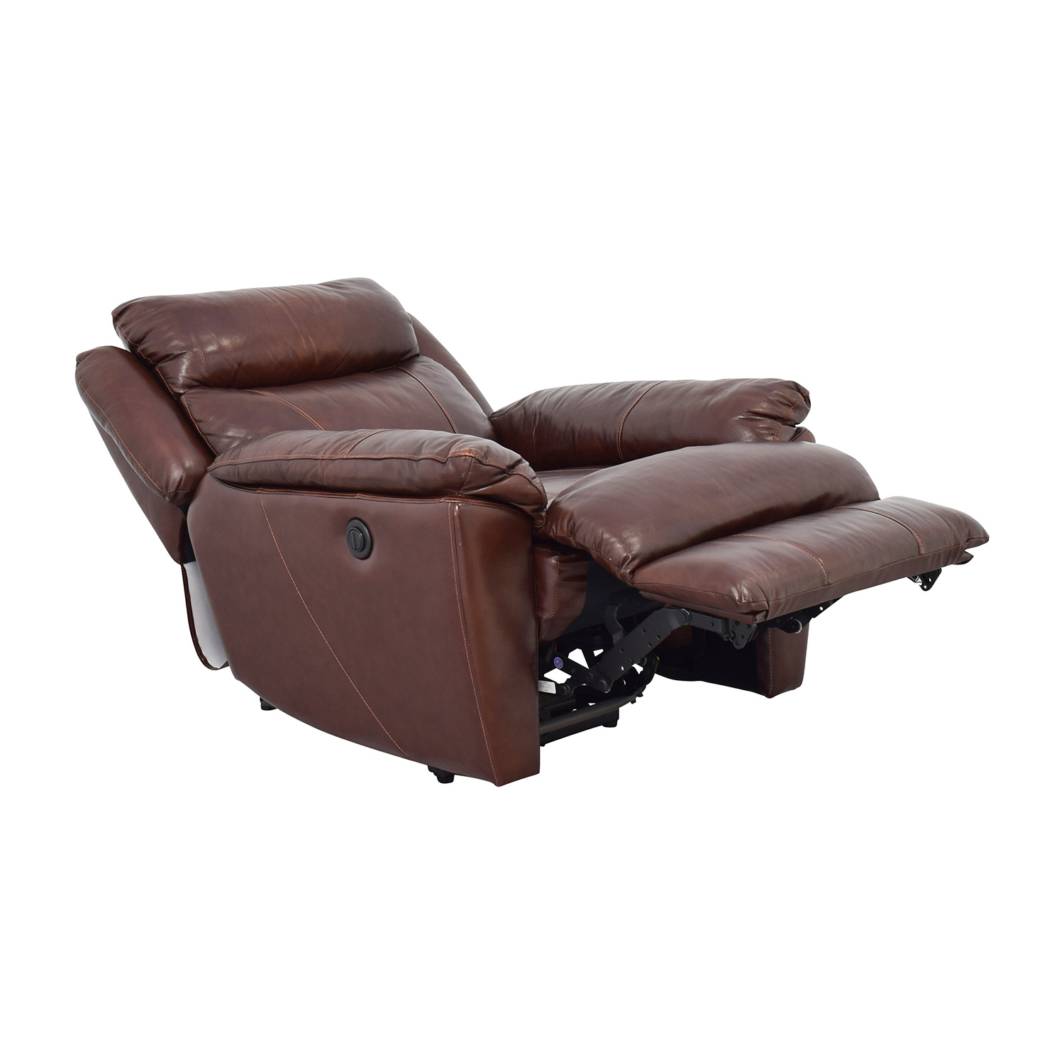 Macys Brown Leather Power Recliner / Chairs