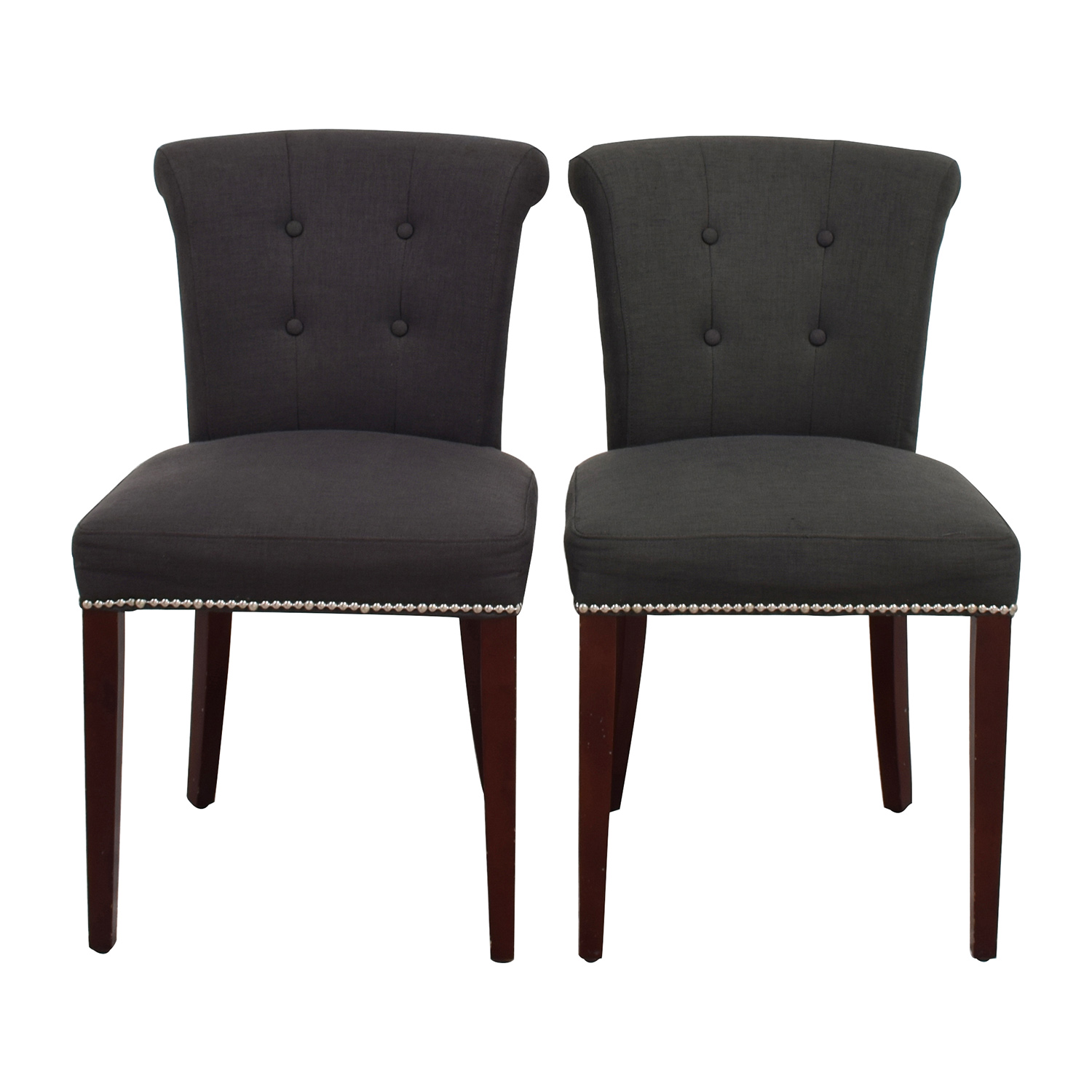 shop Safavieh En Vogue Sinclair Charcoal Nailhead Ring Chairs Safavieh Accent Chairs