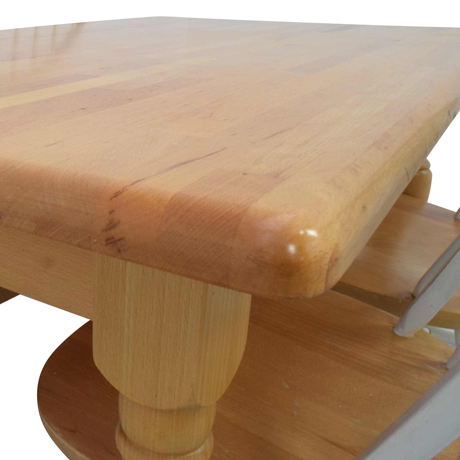 Butcher Block Kitchen Table and Four Chairs discount