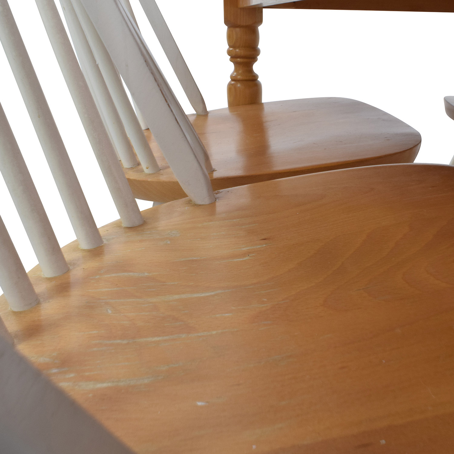 Butcher Block Kitchen Table and Four Chairs Dining Sets