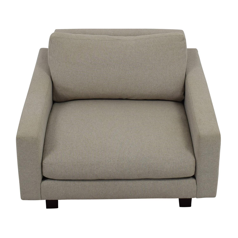 Room and Board Room & Board Hess Grey Chair used