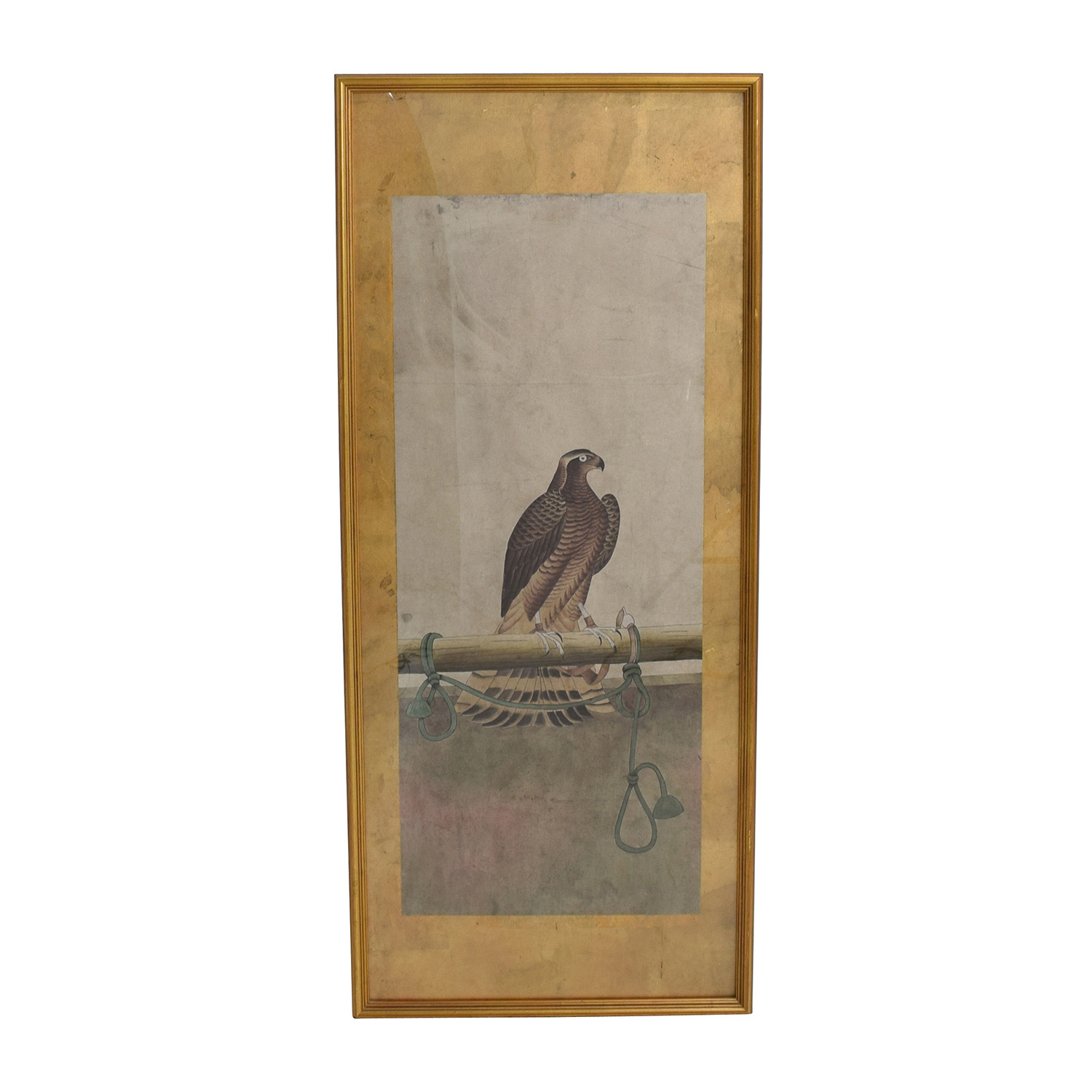 Falcon Colored Print with Antique Gold Frame coupon