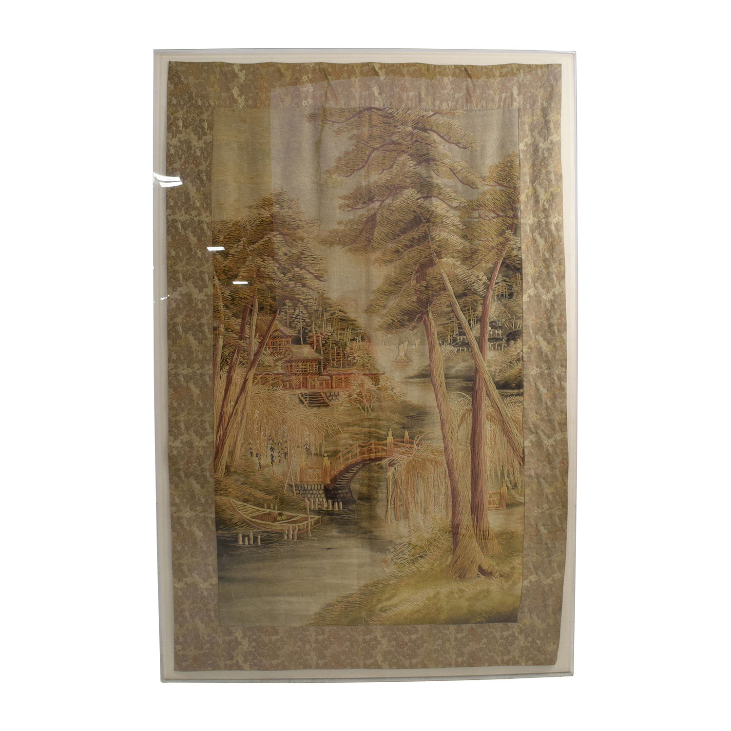 buy Asian Tapestry in Cream Frame