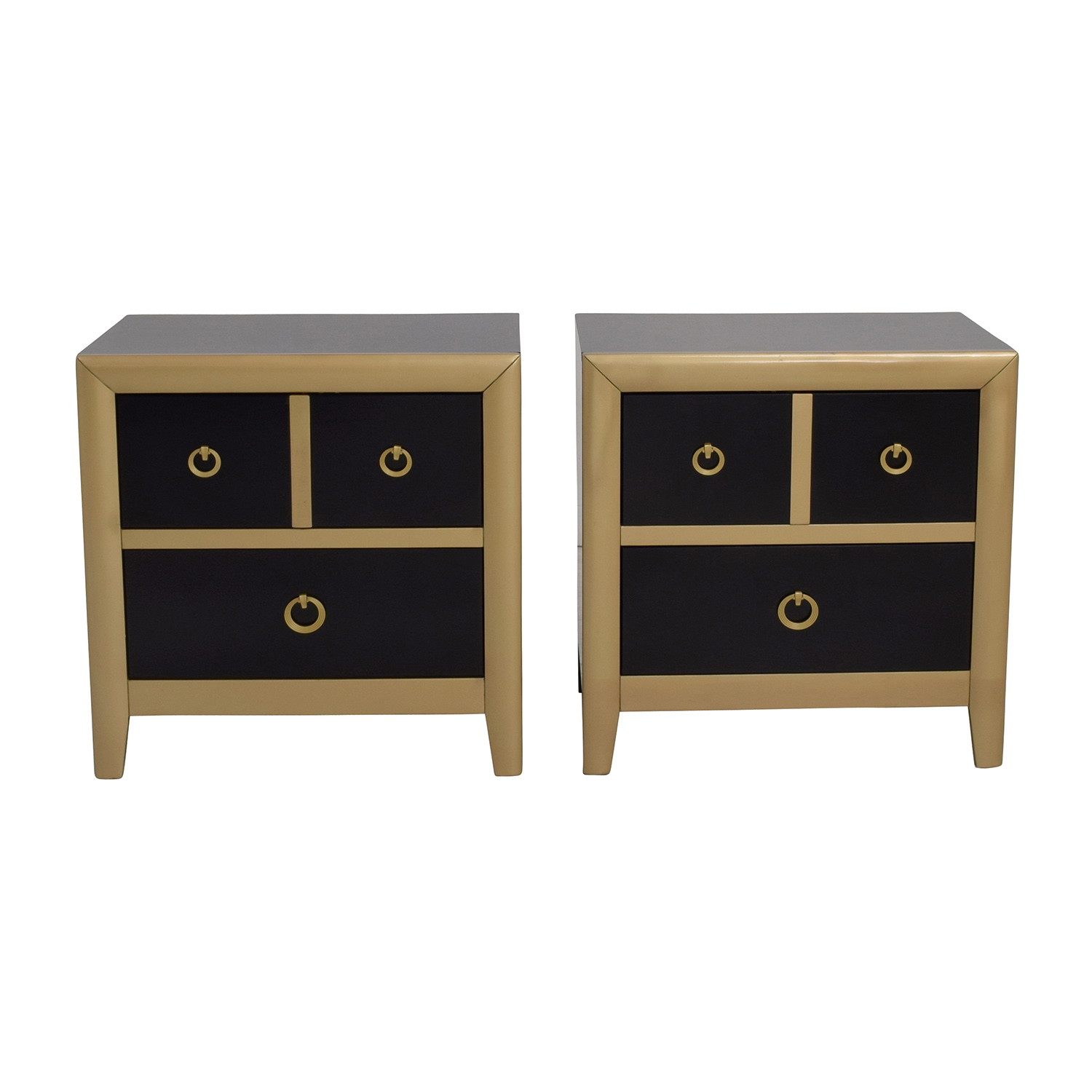 shop Coaster Furniture Black and Gold Two-Drawer Nightstands Coaster Furniture End Tables