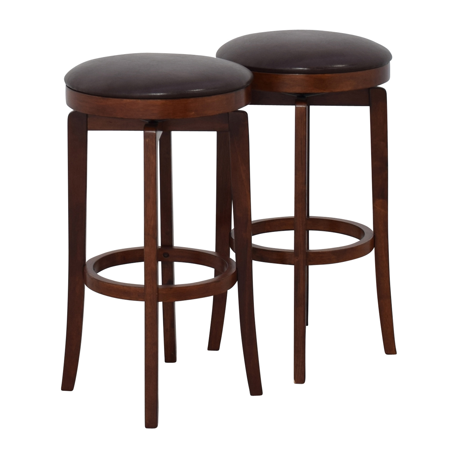 Backless Bar Stools ~ Off jc penny malone backless leather swivel