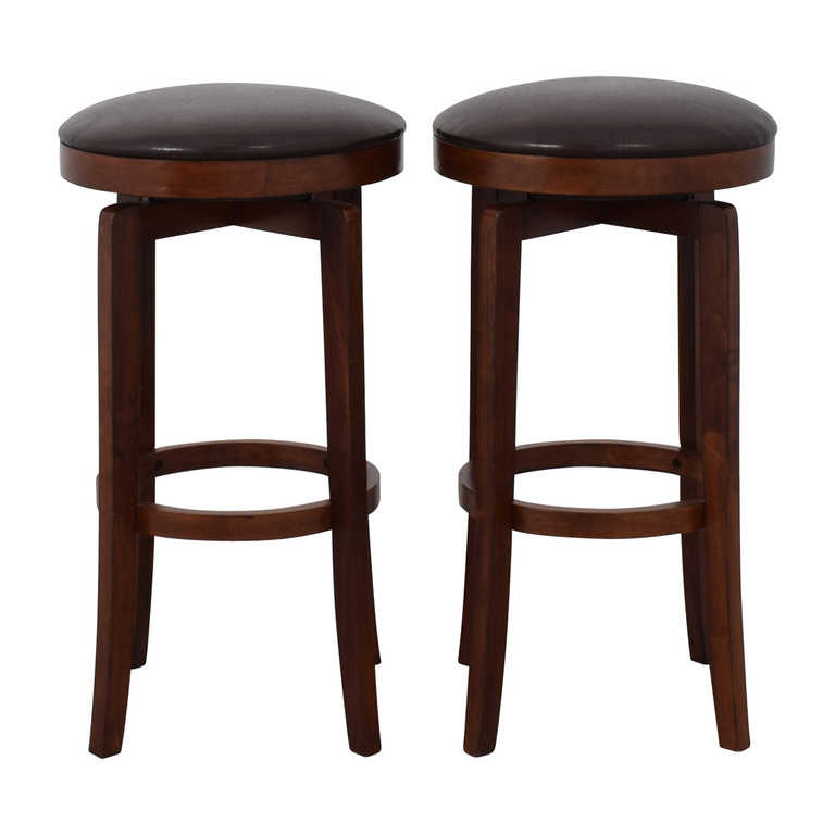 shop JC Penny Malone Backless Leather Swivel Bar Stool JC Penny