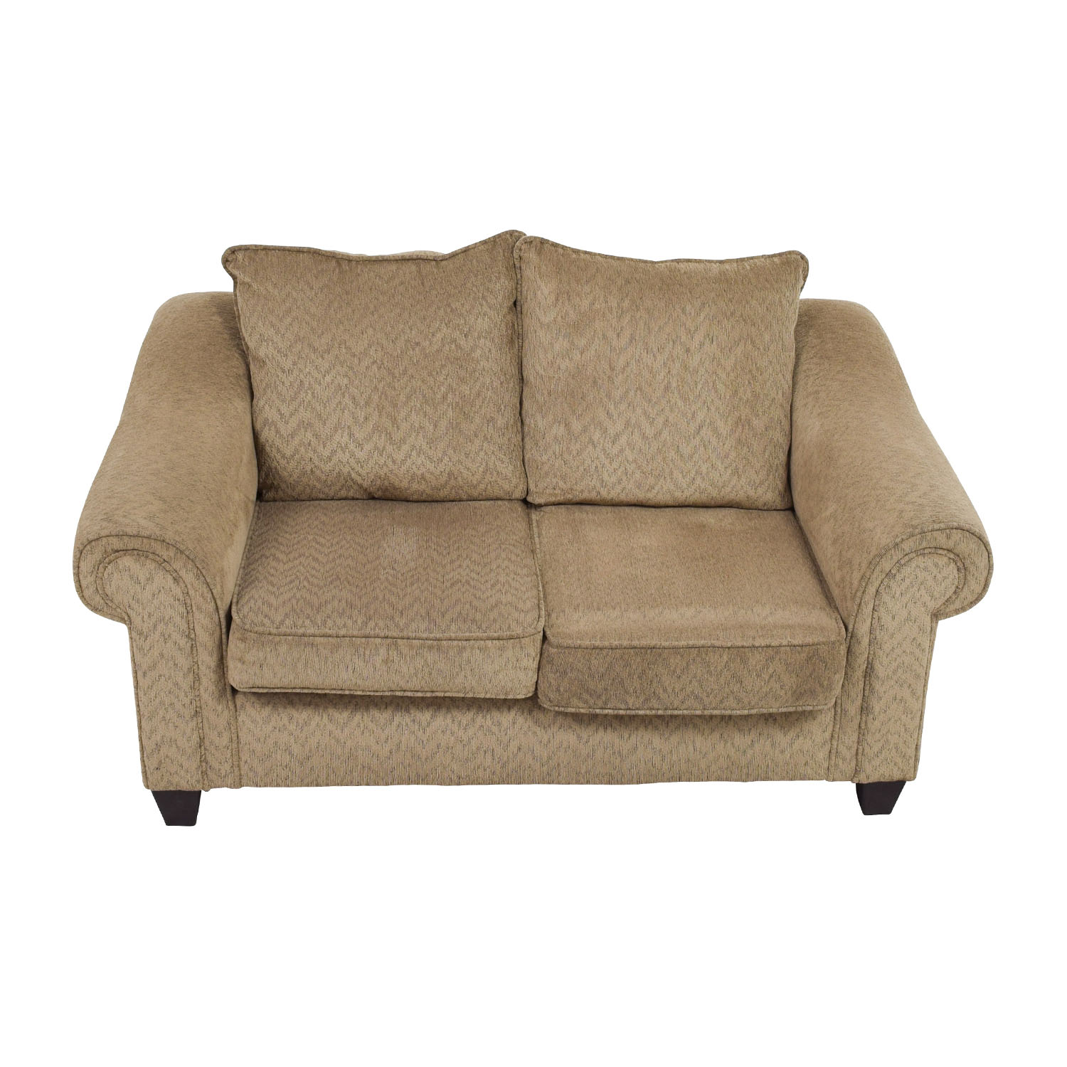 Bobs Furniture Bobs Furniture Two-Toned Brown Loveseat dimensions