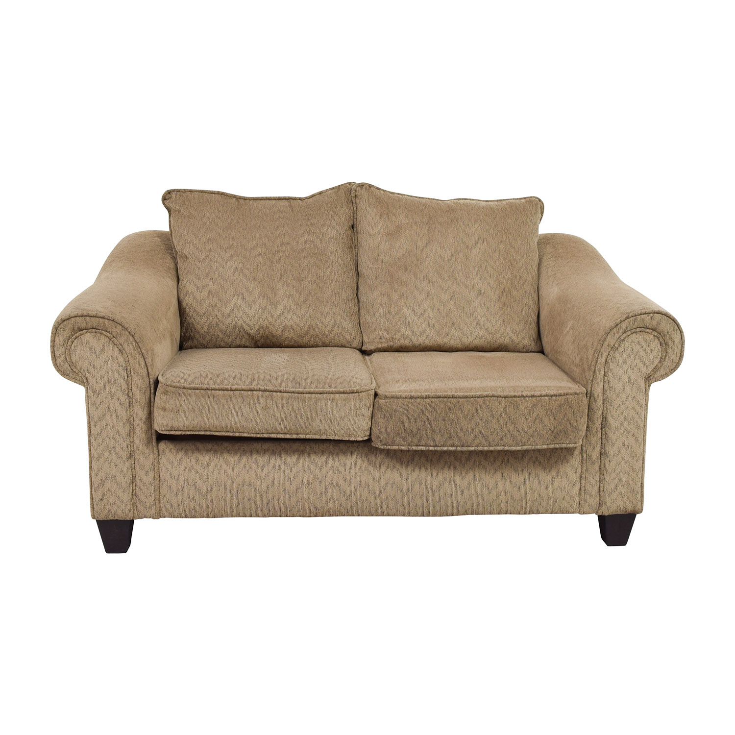 79% OFF Bob s Furniture Bob S Furniture Two Toned Brown Loveseat