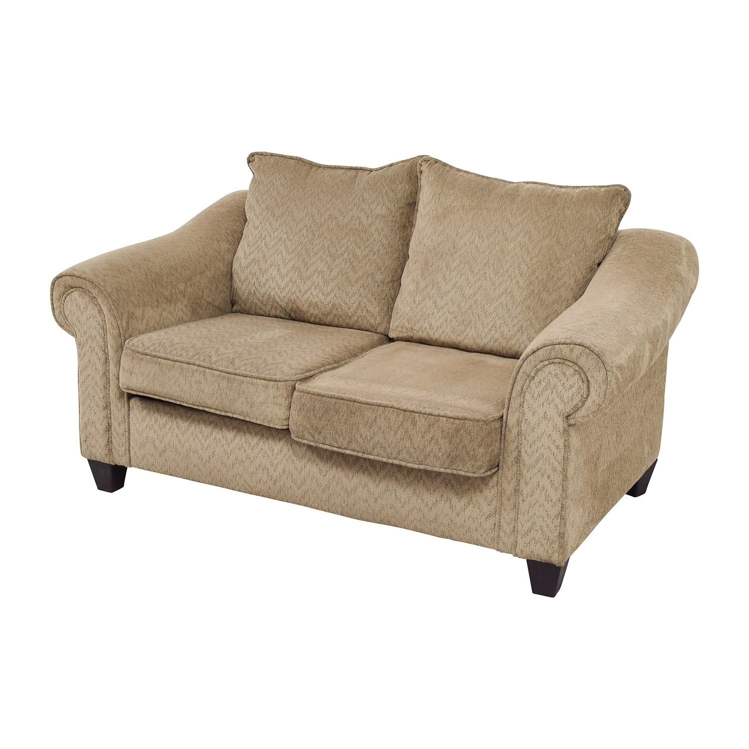 84 Off Bob 39 S Furniture Bob 39 S Furniture Two Toned Brown Loveseat Sofas