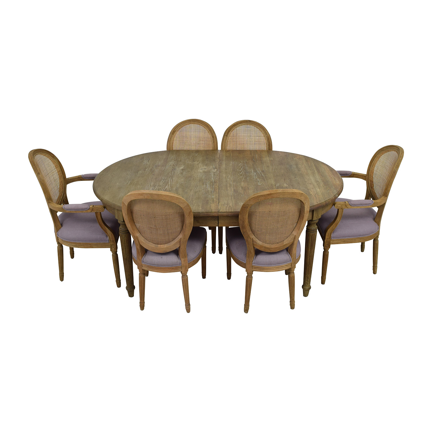 Restoration Hardware Restoration Hardware Rustic Extended Table with Six Chairs price