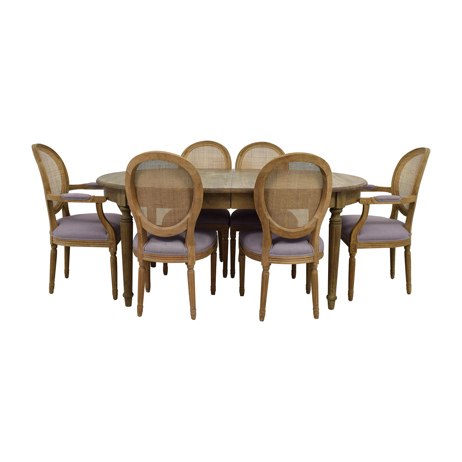 Restoration Hardware Restoration Hardware Rustic Extended Table with Six Chairs