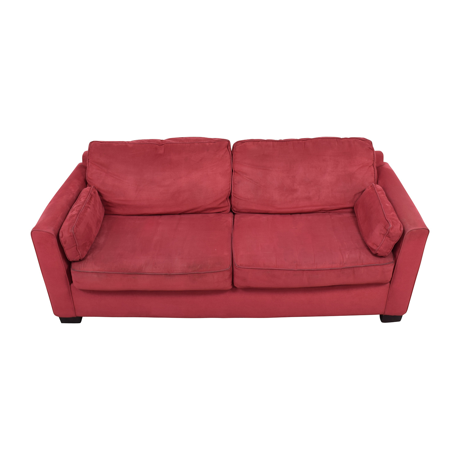 ... Shop Bloomingdales Bloomingdaleu0027s Classic Low Profile Red Couch Online  ...