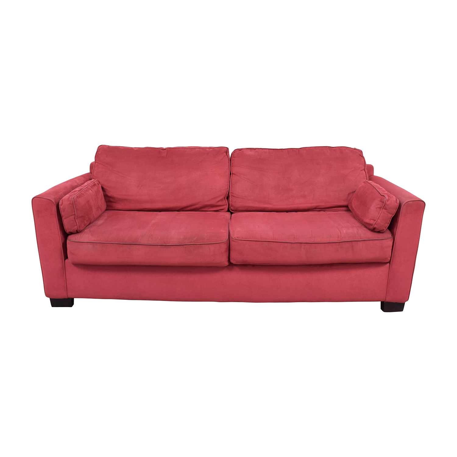 Bloomingdales Classic Low Profile Red Couch Bloomingdales ...