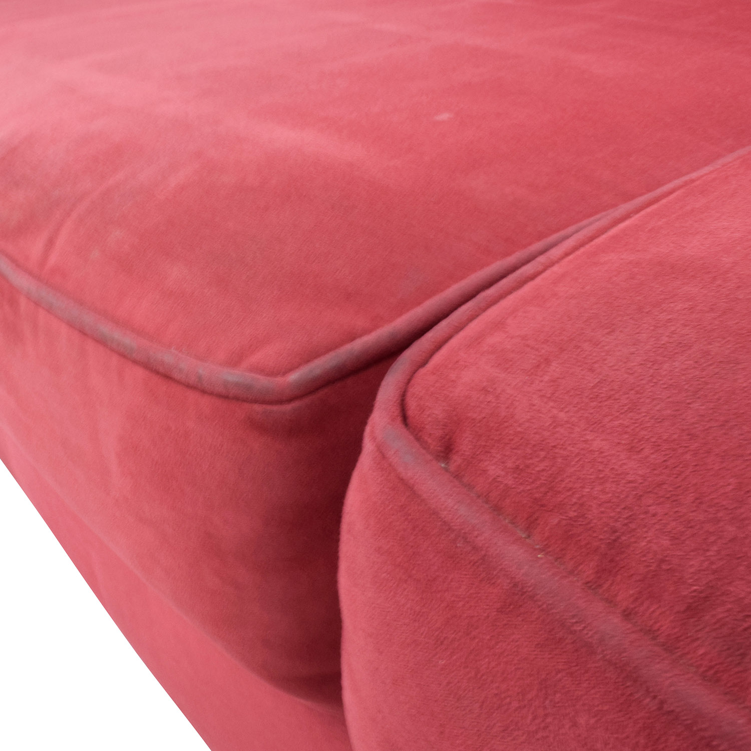 ... Bloomingdales Bloomingdaleu0027s Classic Low Profile Red Couch Discount ...