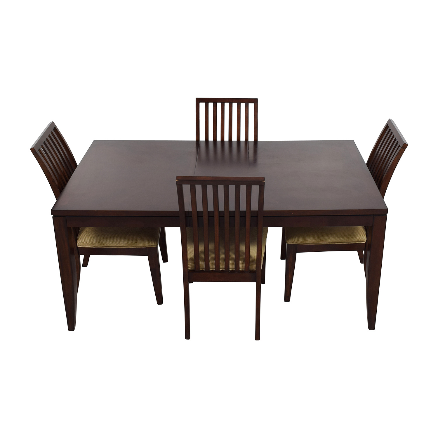45 off macy39s macy39s metropolitan wood extendable for Extendable dining set