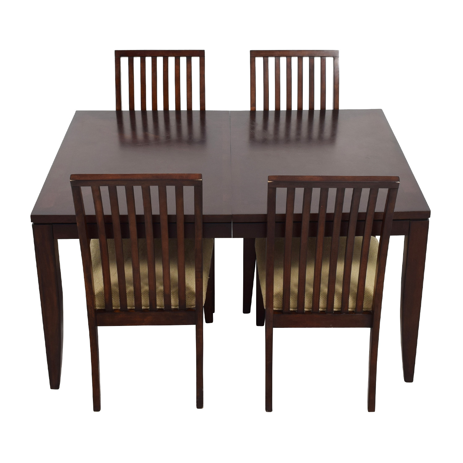 Macy's Macy's Metropolitan Wood Extendable Dining Set used