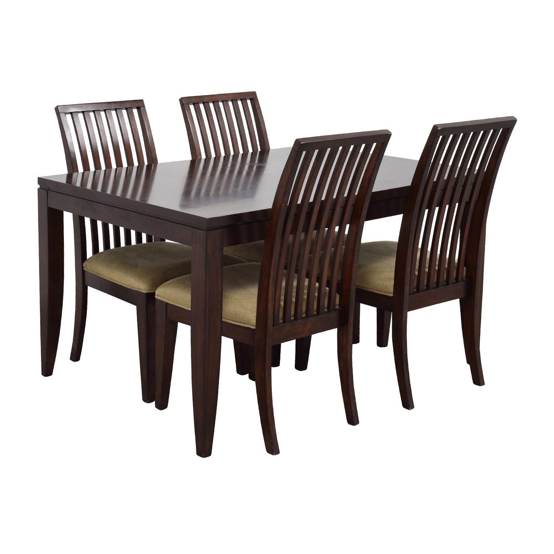 45 off macy 39 s macy 39 s metropolitan wood extendable. Black Bedroom Furniture Sets. Home Design Ideas