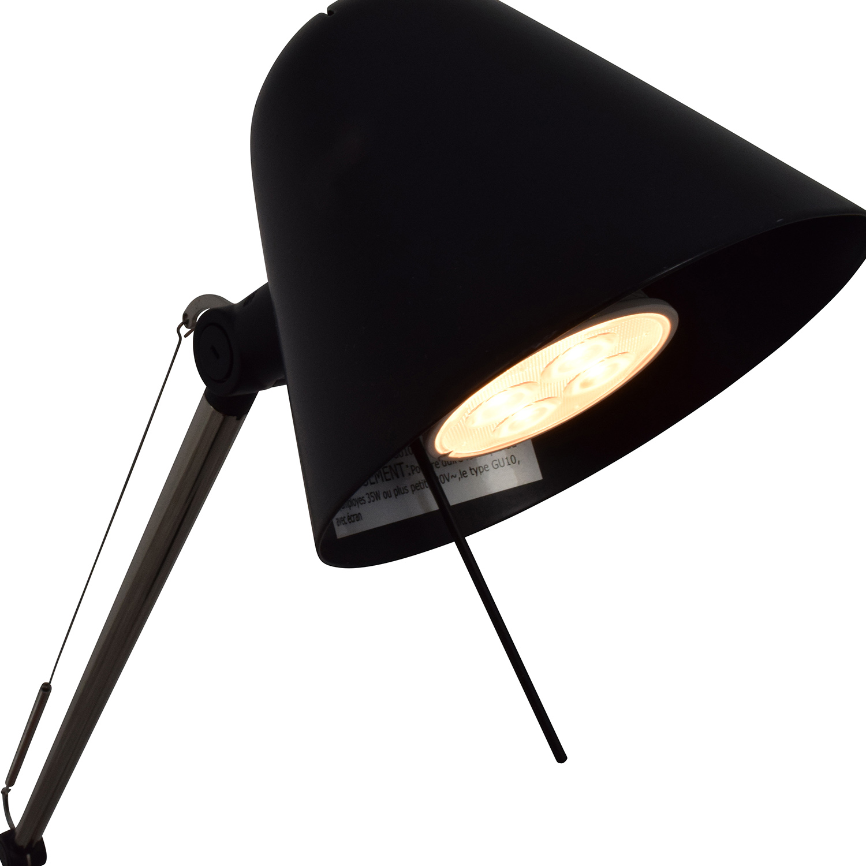 32 off ikea ikea uppbo black and chrome task floor lamp