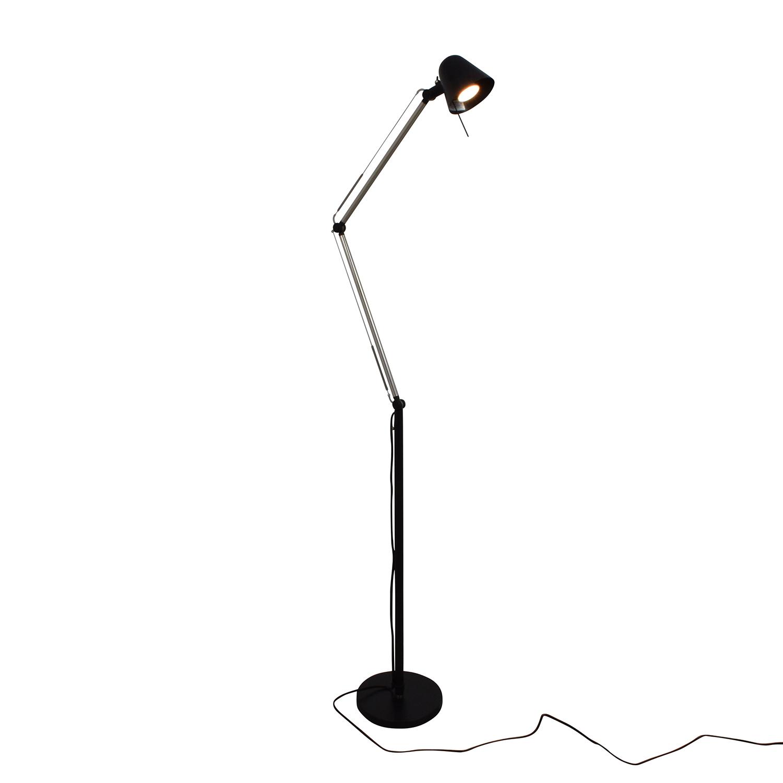 IKEA IKEA UPPBO Black and Chrome Task Floor Lamp dimensions