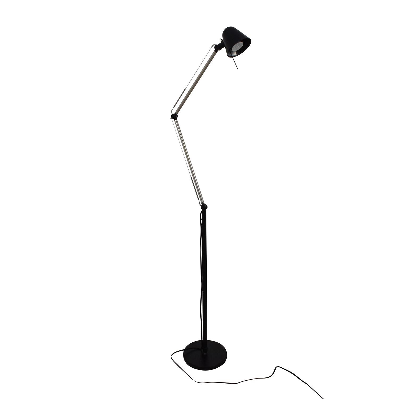 Ikea Uppbo Black And Chrome Task Floor Lamp Used
