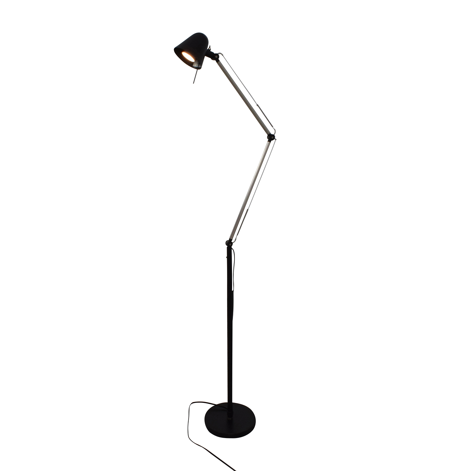 32 off ikea ikea uppbo black and chrome task floor lamp