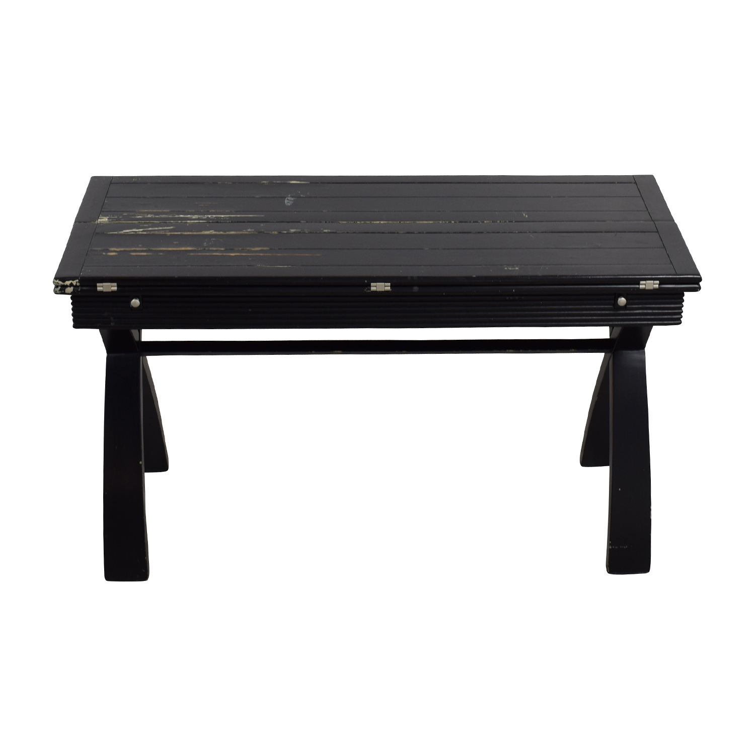 Rustic Black Extendable Desk Table on sale