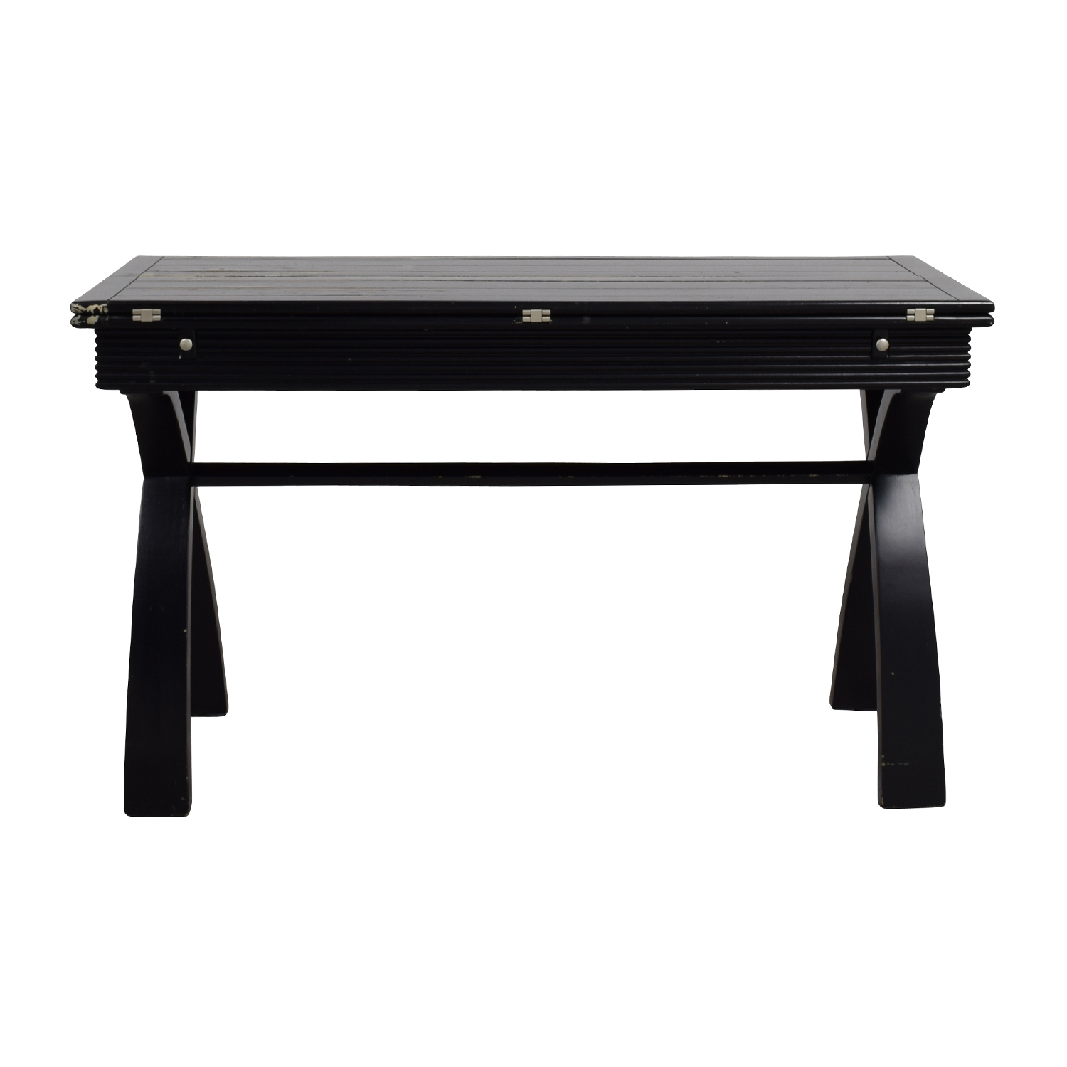 Rustic Black Extendable Desk Table