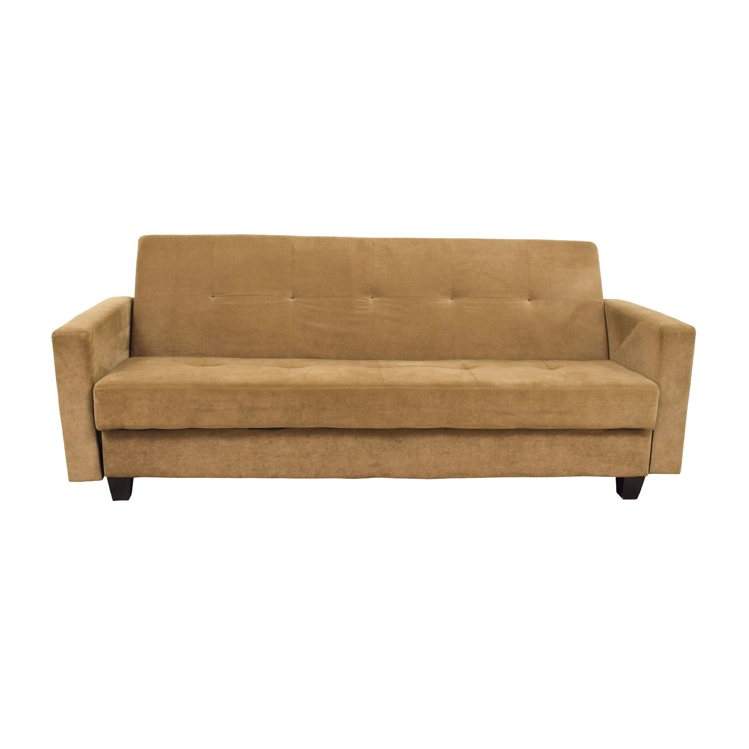 shop Brown Tufted Futon and Side Arms Sofas