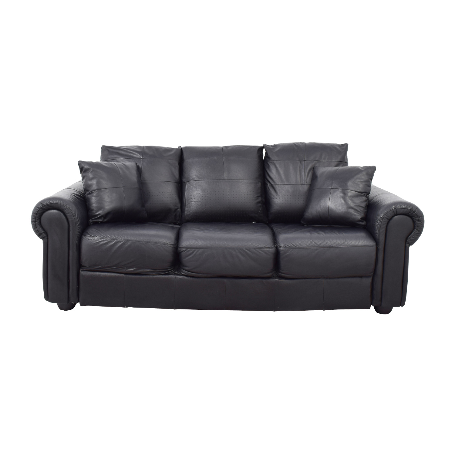 ABC Carpet and Home ABC Carpet & Home Black Leather Couch Classic Sofas