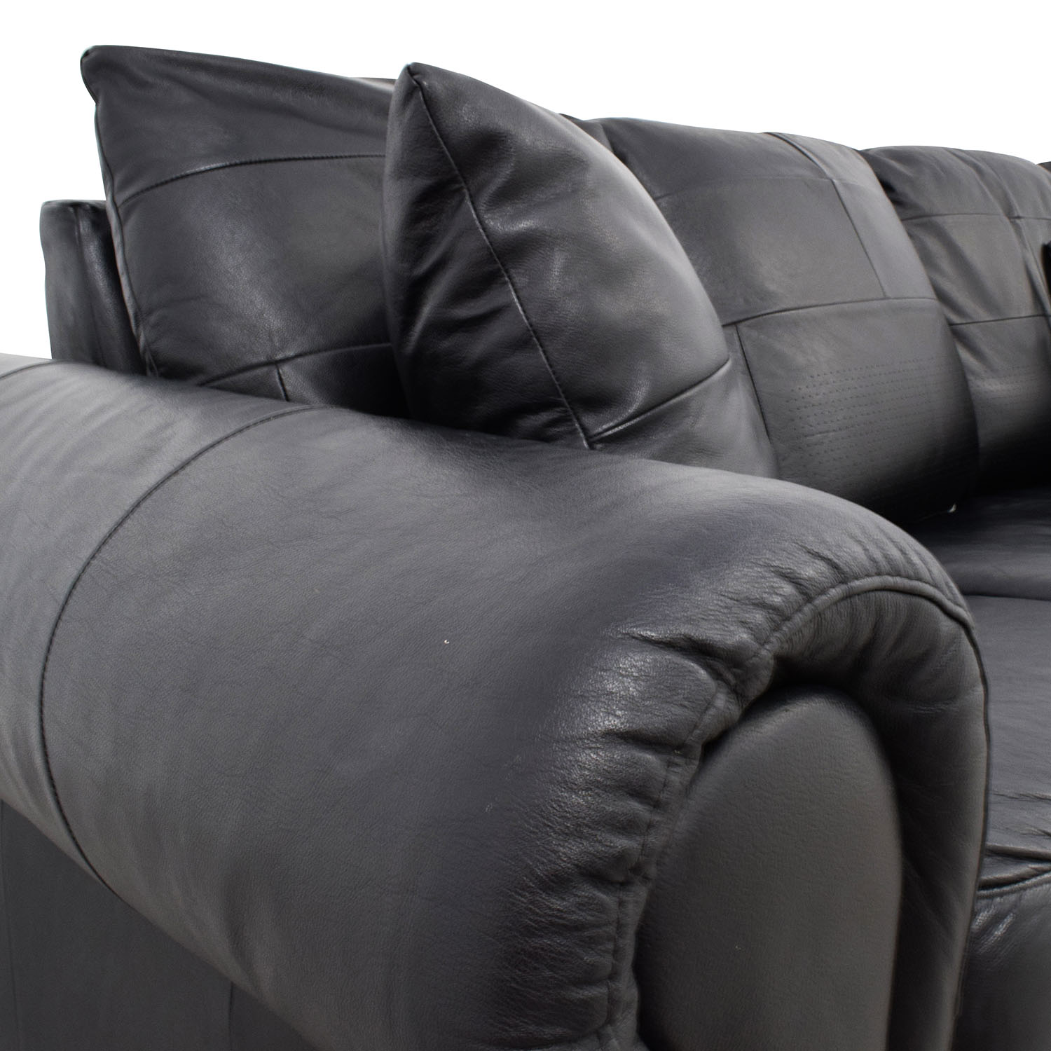 shop ABC Carpet & Home Black Leather Couch ABC Carpet and Home Classic Sofas