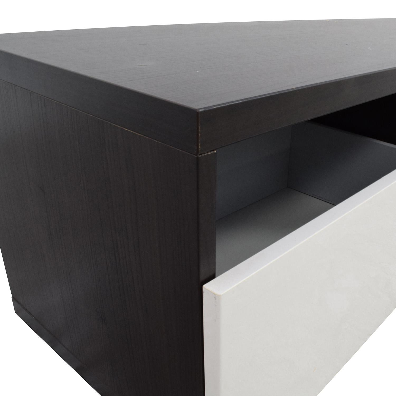 90 off ikea ikea brown and white media unit storage for Media dresser ikea