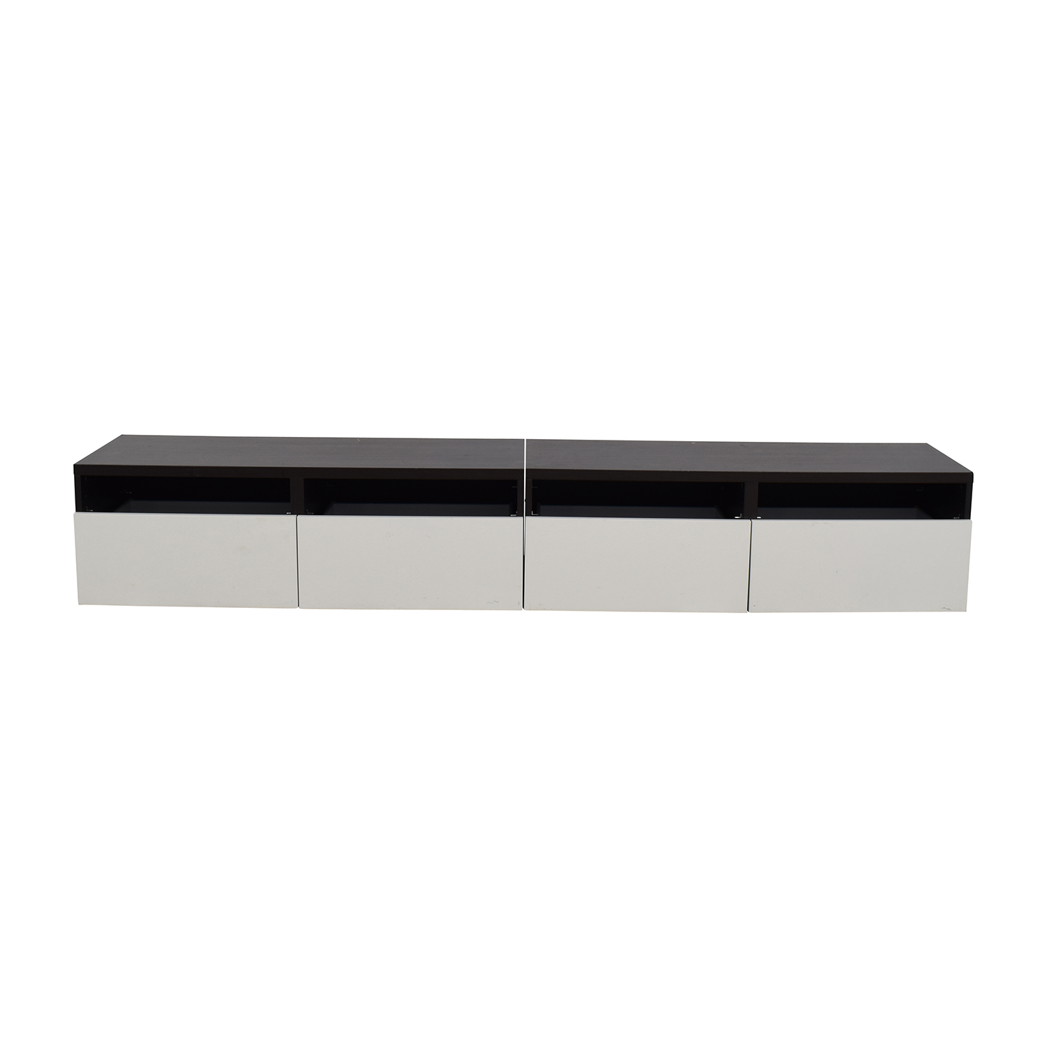 IKEA IKEA Brown and White Media Unit dimensions