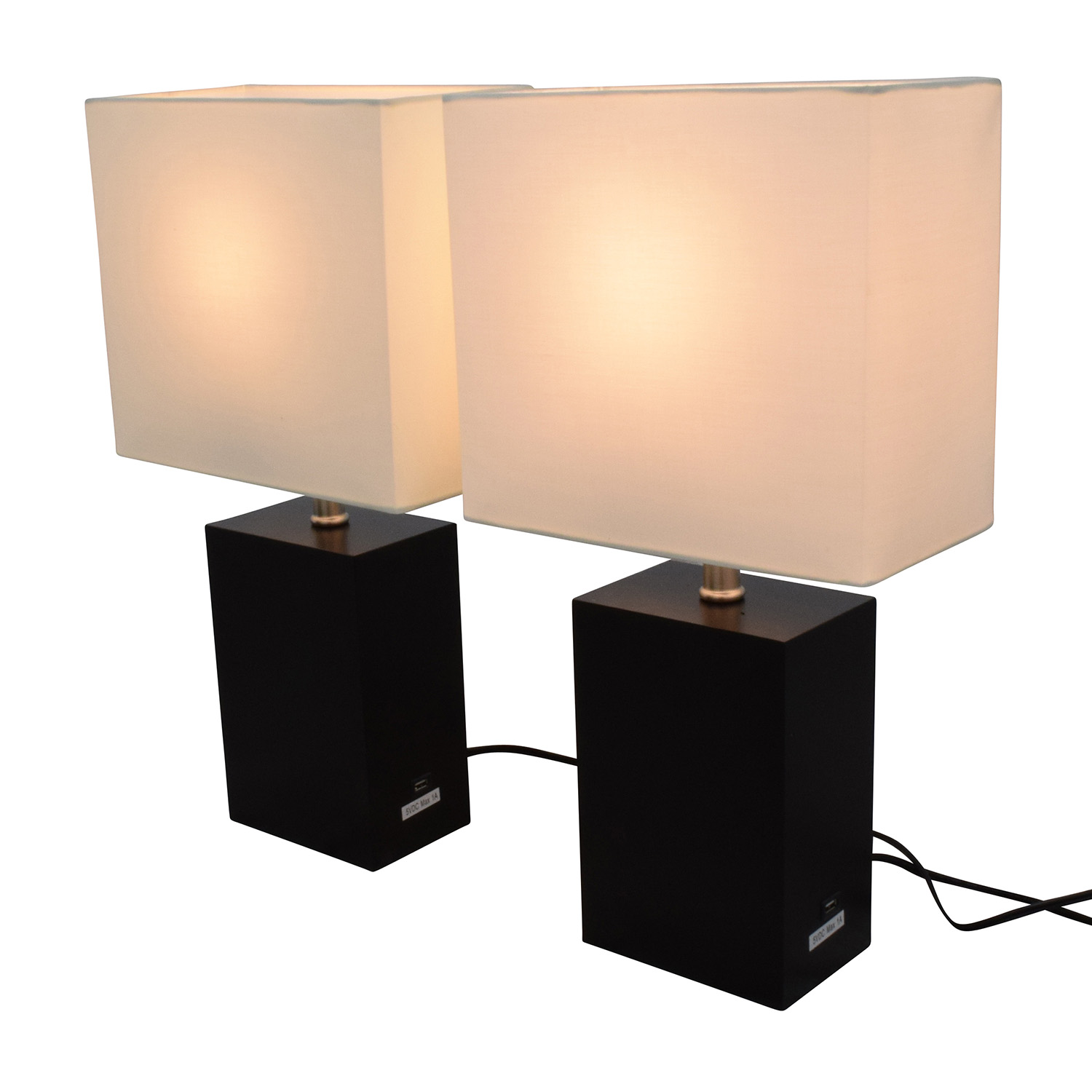 48 Off Brightech Brightech Black Wood Led Table Lamps