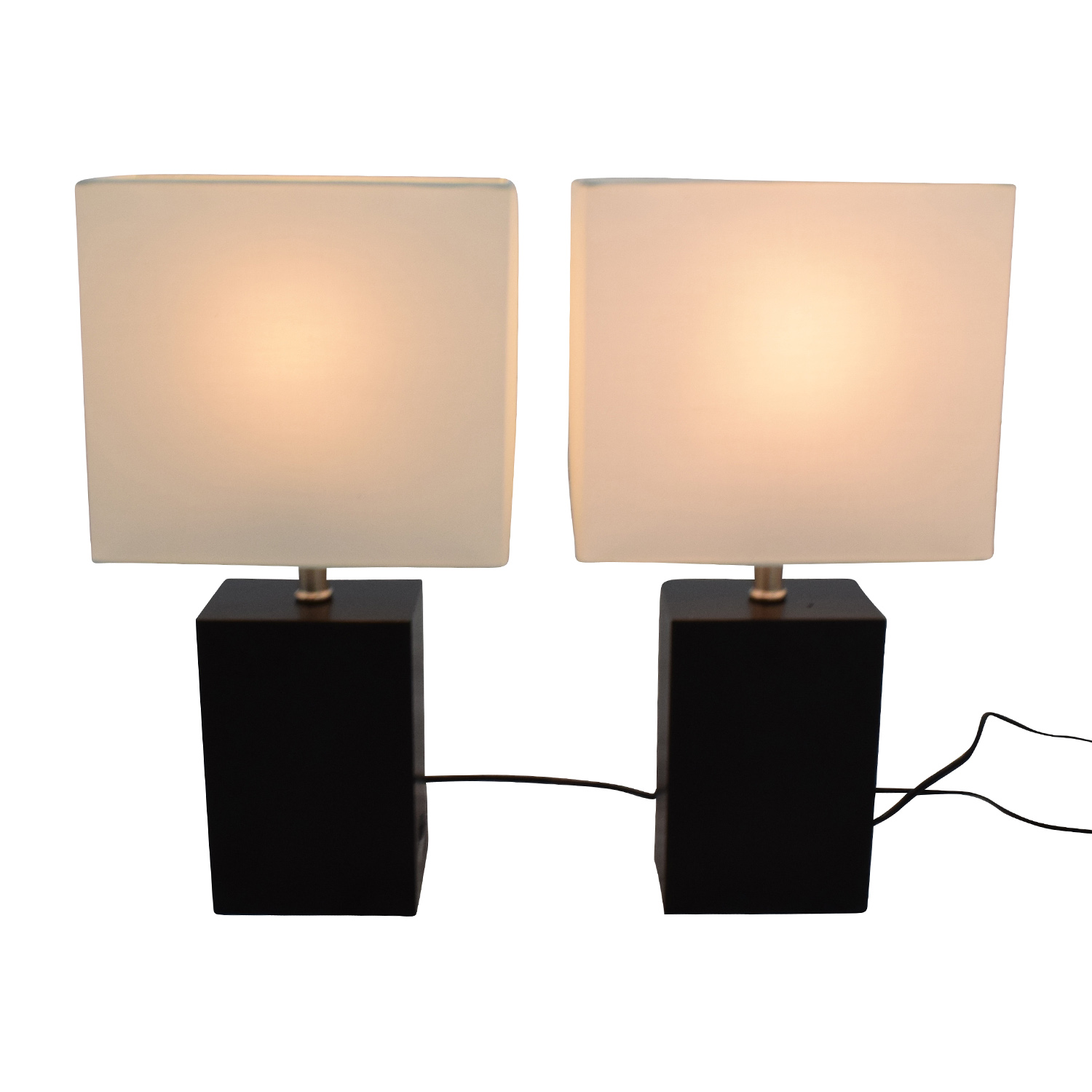 Brightech Brightech Black Wood LED Table Lamps Black