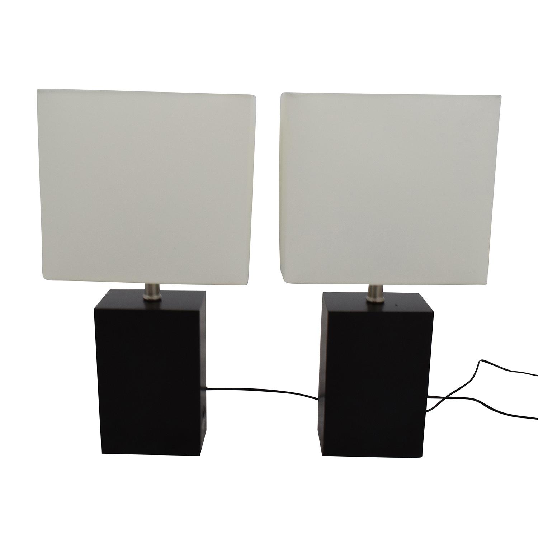Brightech Black Wood LED Table Lamps Sale