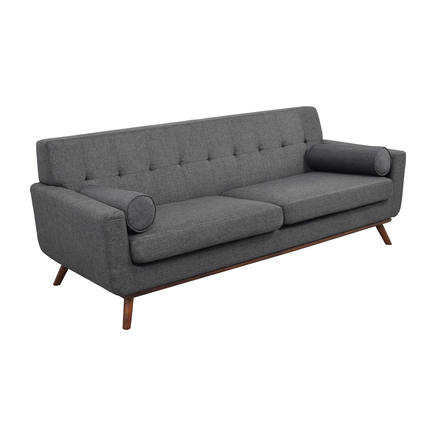 buy Inmod Charcoal Grey Tufted Lars Sofa with Pillows Inmod Sofas