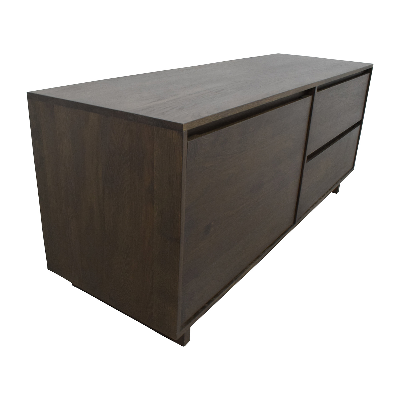 47 off crate and barrel crate barrel media console storage. Black Bedroom Furniture Sets. Home Design Ideas