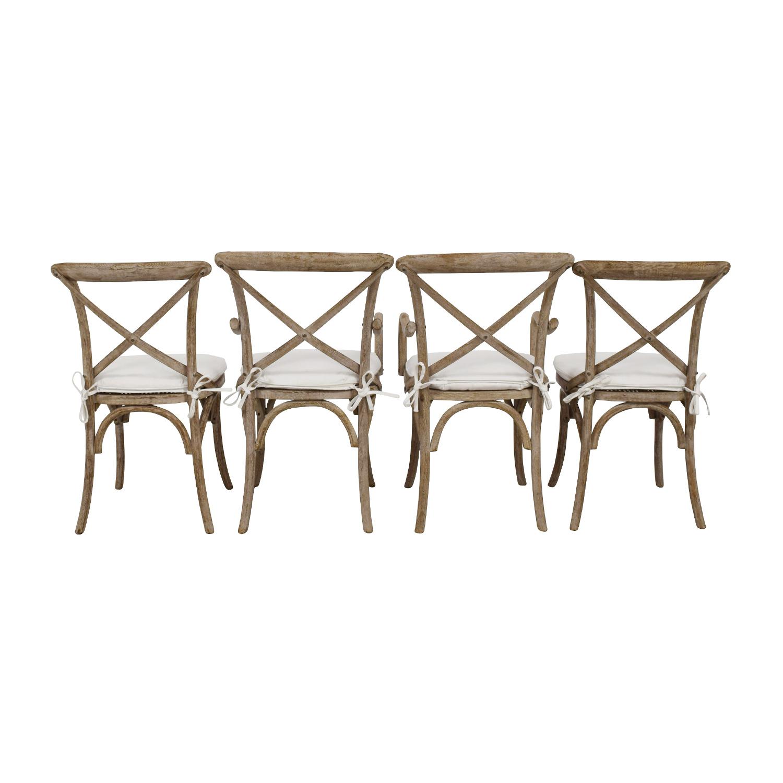 Restoration Hardware Madeleine Natural Wood Chairs Online