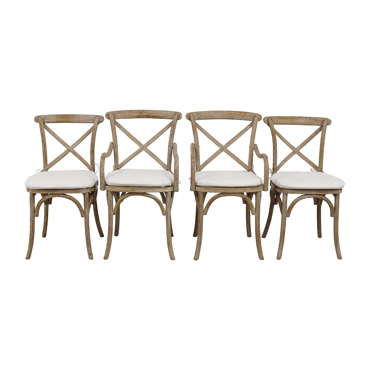 Restoration Hardware Madeleine Natural Wood Chairs Restoration Hardware