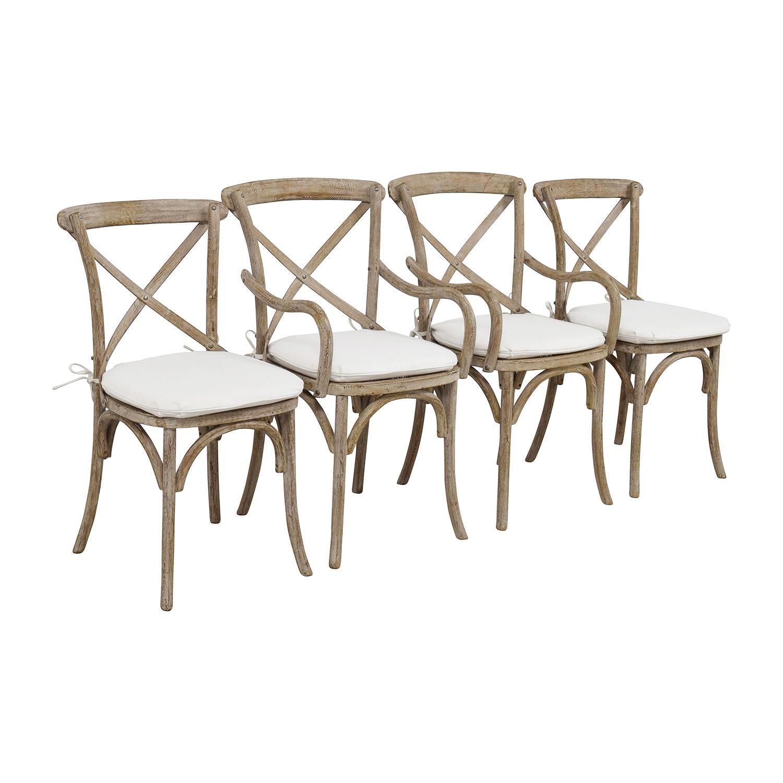 Restoration Hardware Madeleine Natural Wood Chairs
