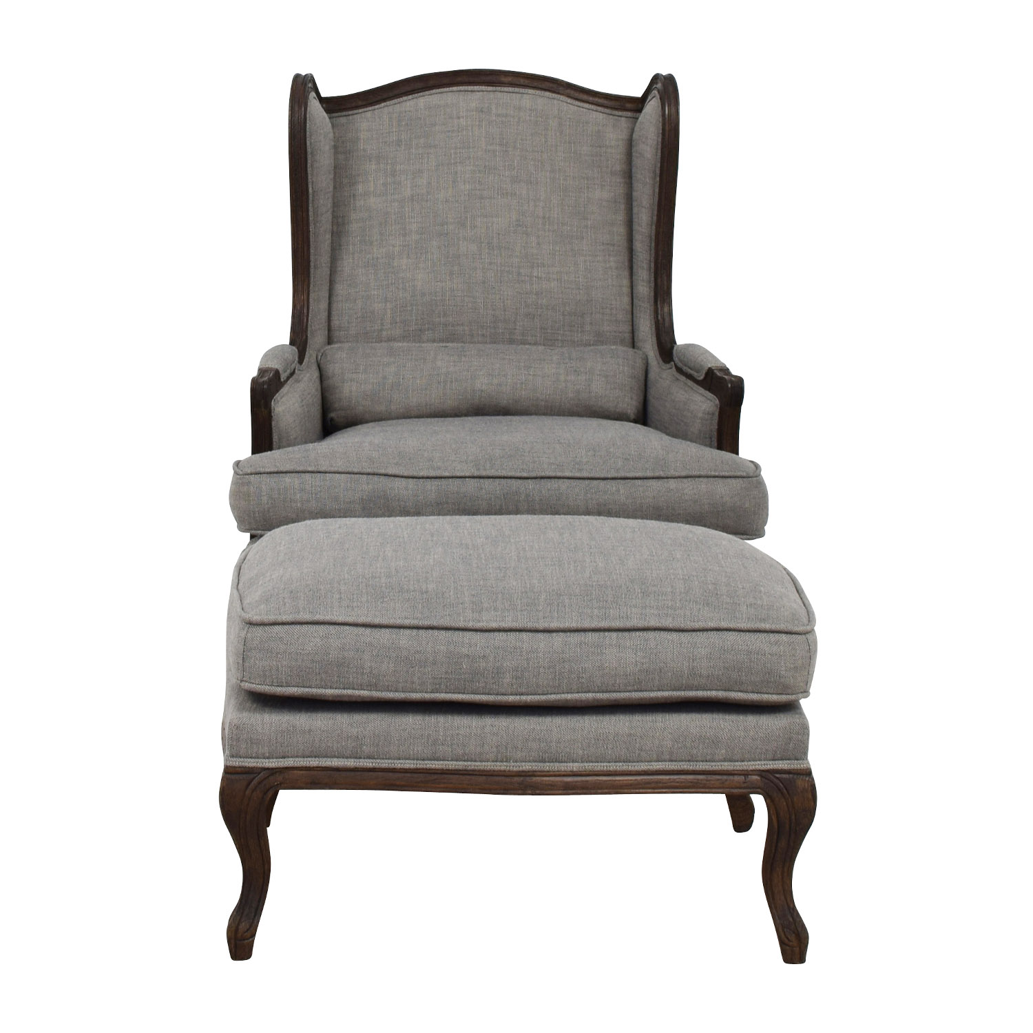 Restoration Hardware Grey Chair And Ottoman Online