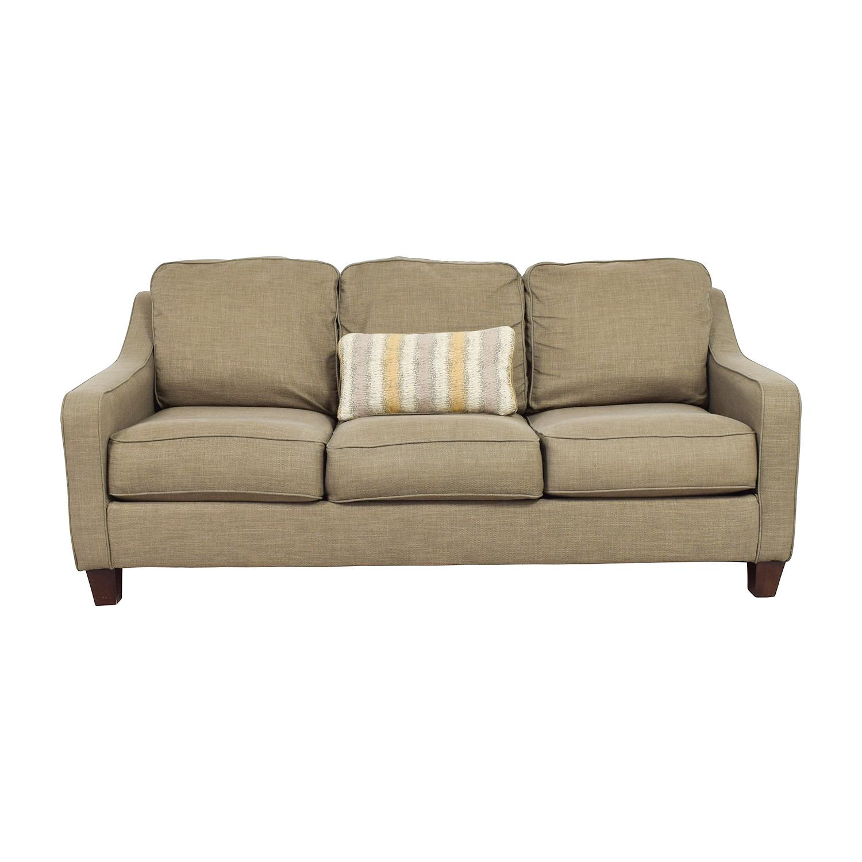 Jennifer Furniture Brown Three Seater