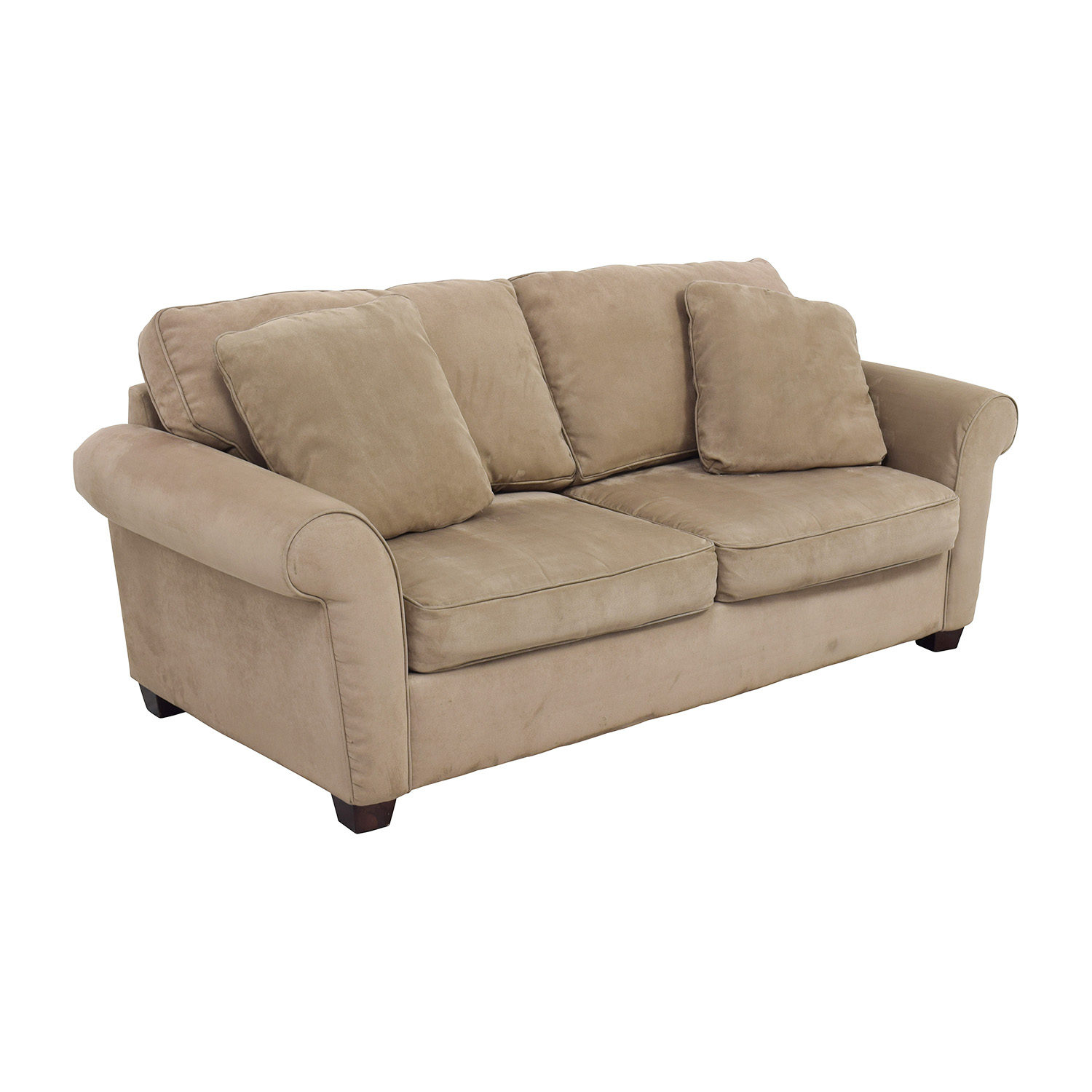 72 off bauhaus bauhaus microfiber tan oversized couch for Bauhaus sofa bed