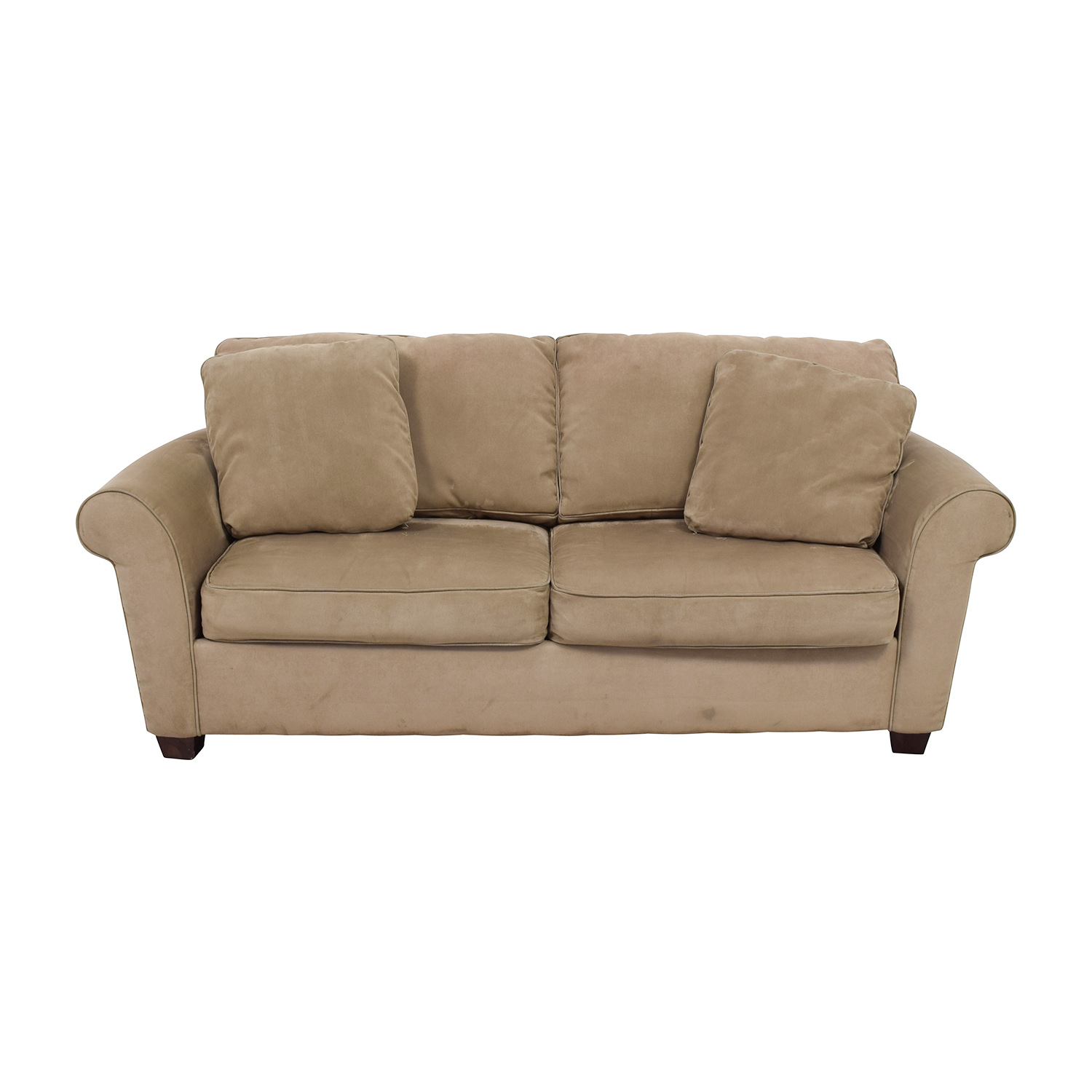 Bauhaus Microfiber Tan Oversized Couch For