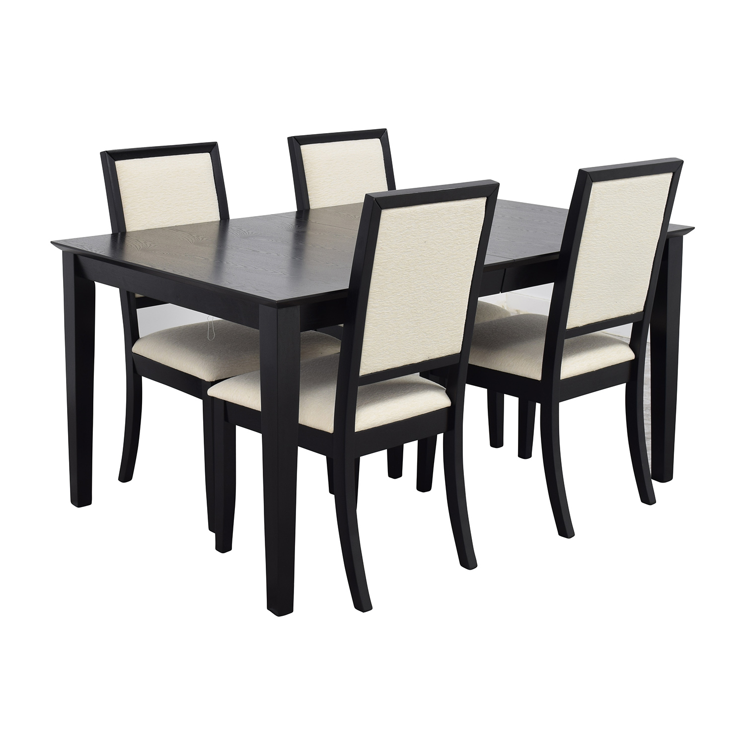 72 off harlem furniture harlem furniture black dining for Four chair dining table